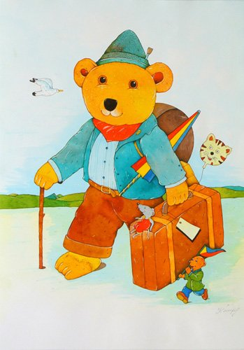 tableaux-pour-enfants - Tableau -Holiday. Wanderer- - Kaempf, Christian