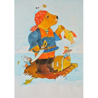 Tableaux pour enfants - Tableau -Pirate- - Kaempf, Christian