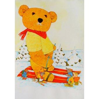 Tableaux pour enfants - Tableau -Winter. Skiing- - Kaempf, Christian