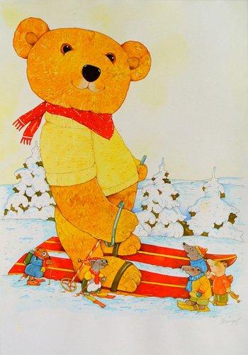 tableaux-pour-enfants - Tableau -Winter. Skiing- - Kaempf, Christian