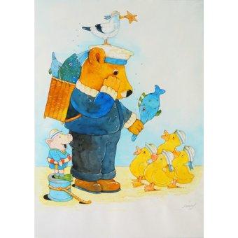 Tableaux pour enfants - Tableau -Fisherman- - Kaempf, Christian