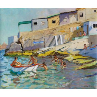 Tableaux de paysages marins - Tableau -The rowing boat,Valetta,Malta,2015- - Macara, Andrew