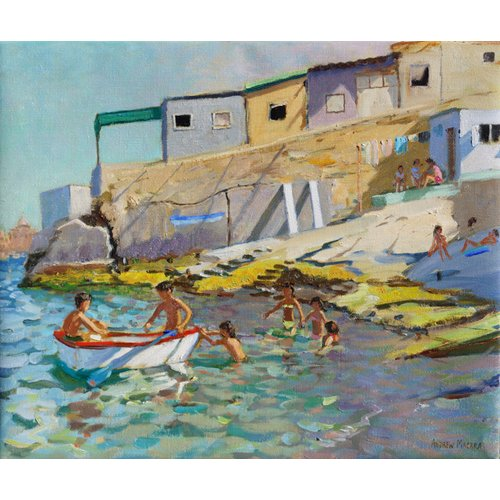Tableau -The rowing boat,Valetta,Malta,2015-