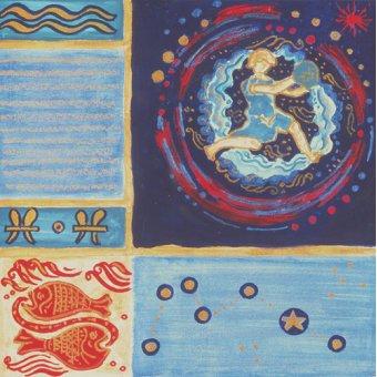 Tableaux orientales - Tableau -Aquarius- - Manek, Sabira