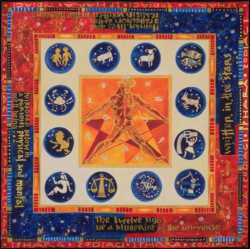 tableaux-orientales - Tableau -Astrology, 1999- - Manek, Sabira