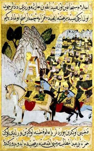 tableaux-orientales - Tableau -Miniatura de la copia original del Siyer-i-Nabi/1594-95- - _Anónimo Islámico