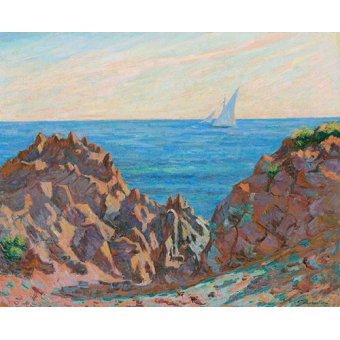 Tableaux de paysages marins - Tableau -Agay- - Guillaumin, Armand
