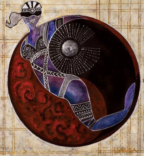 tableaux-orientales - Tableau -Aries-Libra, 2009- - Manek, Sabira