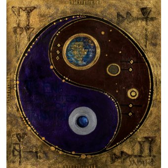 Tableaux orientales - Tableau -Gemini-Sagitarius, 2009 - - Manek, Sabira