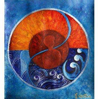 Tableaux orientales - Tableau -Leo-Aquarius, 2009- - Manek, Sabira