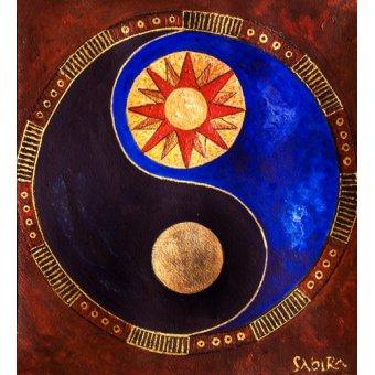 Tableaux orientales - Tableau -Sun-Moon, 2009- - Manek, Sabira