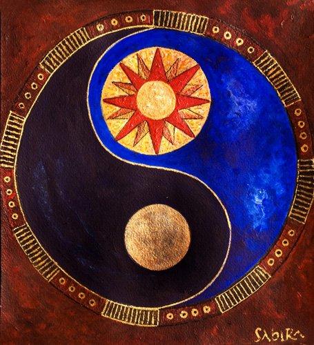tableaux-orientales - Tableau -Sun-Moon, 2009- - Manek, Sabira