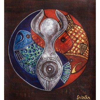 Tableaux orientales - Tableau -Virgo-Pisces, 2009- - Manek, Sabira