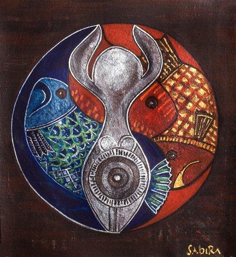 tableaux-orientales - Tableau -Virgo-Pisces, 2009- - Manek, Sabira