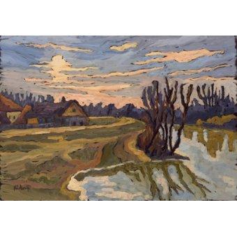 Tableaux de paysages - Tableau -Road into Dusk, 2004- - Martonfi-Benke, Marta