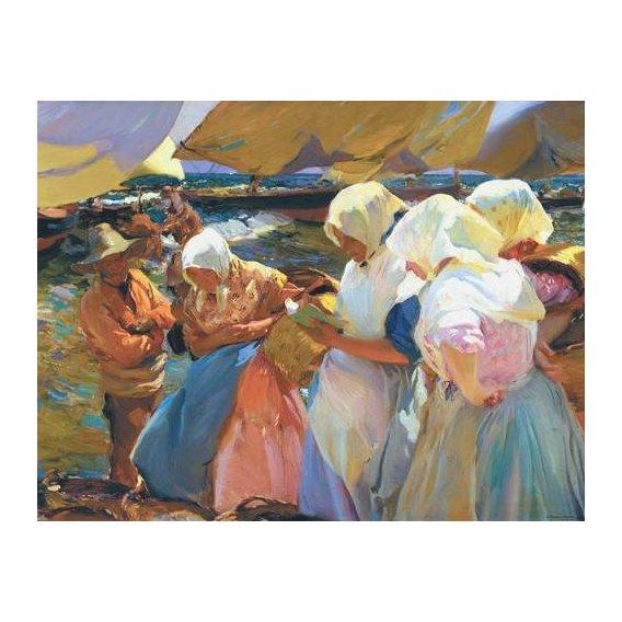 pinturas do retrato - Quadro -Valencianas en la playa-