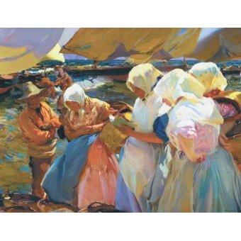 - Tableau -Les femmes de Valence à la plage, 1915- - Sorolla, Joaquin