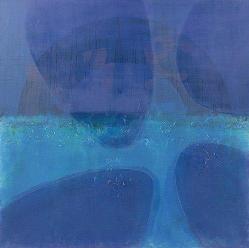 tableaux-abstraits - Tableau -One World, 2000 (oil on linen)- - Millar, Charlie