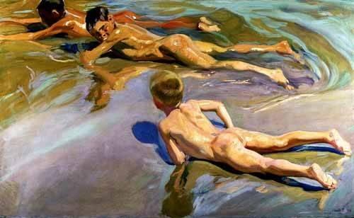 tableaux-de-personnages - Tableau -Garçons sur la plage- - Sorolla, Joaquin