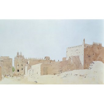 Tableaux abstraits - Tableau -Djenne (Mali) Grande Mosquee, Monday, 2000 (w.c on paper)- - Millar, Charlie
