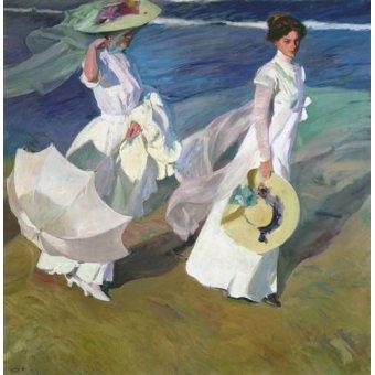 Tableau -Promenade au bord de la mer-