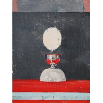 Tableaux abstraits - Tableau -Egg over red and black- - Millar, Charlie