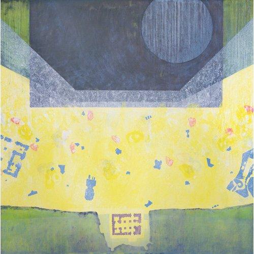 Tableau -Between Emmanuel and Gabriel (Big Fun), 1998 (oil on canvas)-