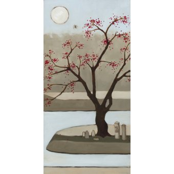 Tableaux de paysages - Tableau - Cherry Tree, Winter, 2013, (oil on wood panel) - - Moore, Megan