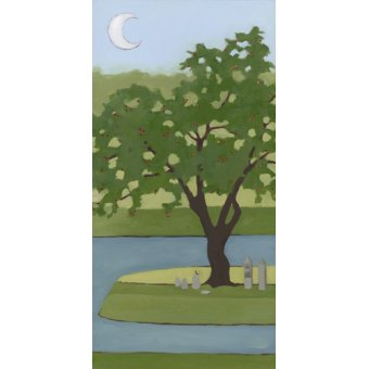 Tableaux de paysages - Tableau - Cherry Tree, Summer, 2013, (oil on wood panel) - - Moore, Megan