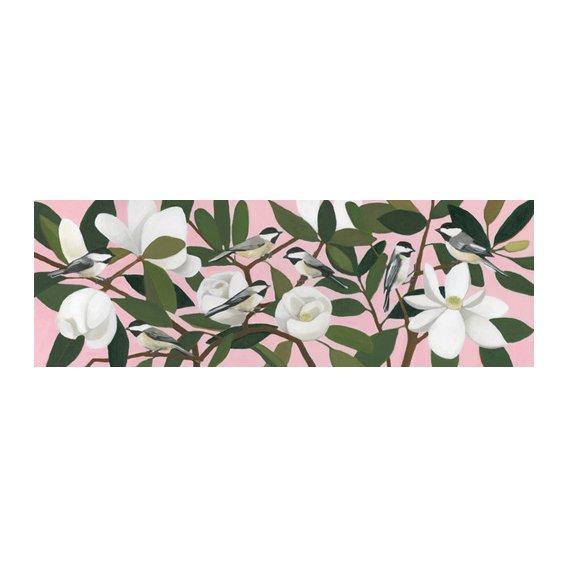 Tableau - Chickadees on a Southern Magnolia-