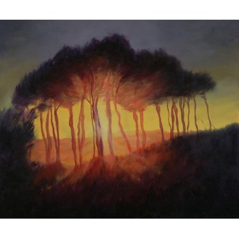 Tableaux de paysages - Tableau -Wild Trees at Sunset, 2002 (oil on canvas)- - Myatt, Antonia