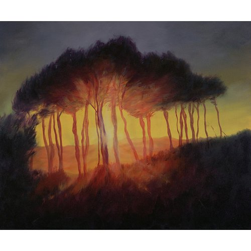 Tableau -Wild Trees at Sunset, 2002 (oil on canvas)-
