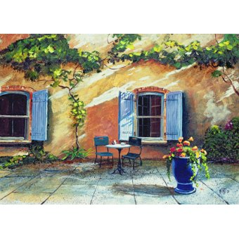 Tableaux de paysages - Tableau -Shuttered Windows, Provence, France, 1999 (oil on board) - - Neal, Trevor