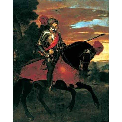 Tableau -Retrato ecuestre de Carlos V en Mühlberg-