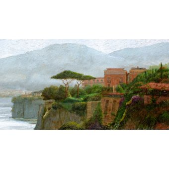 Tableaux de paysages - Tableau -Sorrento Albergo, 2006 (oil on board)- - Neal, Trevor