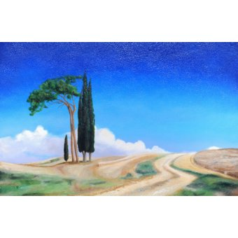 Tableaux de paysages - Tableau -4 Trees, Picenza, Tuscany, 2002- - Neal, Trevor