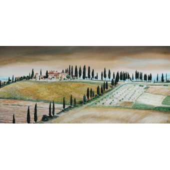 TABLEAUX POUR CHAMBRE - Tableau -Villa on Hill, Tuscany, 2001- - Neal, Trevor