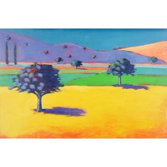 Tableaux de paysages - Tableau - Castlemorton (acrylic on card) - - Powis, Paul
