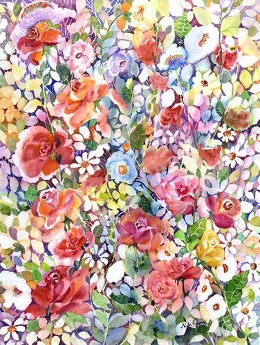 tableaux-pour-hall - Tableau - Roses do Ramble - - Pushparaj, Neela