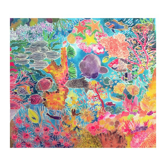 Tableau - Tropical Coral, 1993 (coloured ink on silk) -