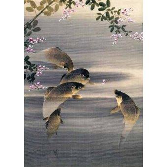 Tableaux orientales - Tableau -Peces- - _Anónimo Japones