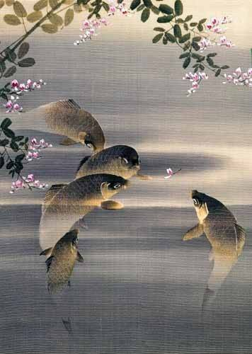 tableaux-orientales - Tableau -Peces- - _Anónimo Japones