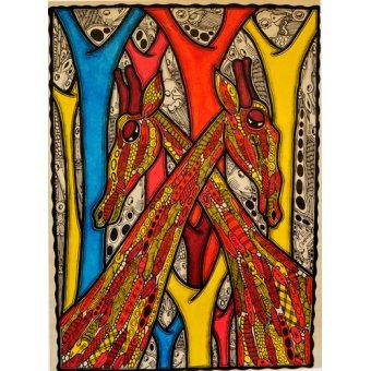 Tableaux de faune - Tableau -Lovers, 2013- - Oladoja, Muktair