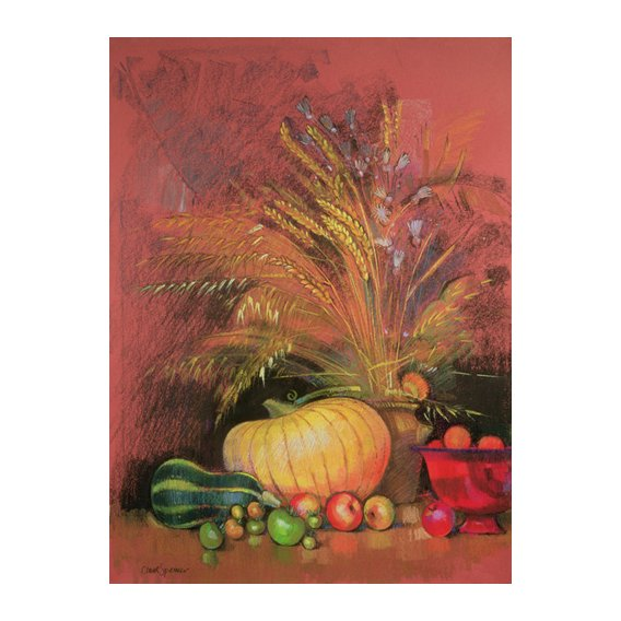 Tableau - Autumn Harvest (pastel on paper) -