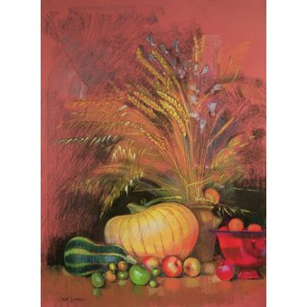 Tableaux nature morte - Tableau - Autumn Harvest (pastel on paper) - - Spencer, Claire