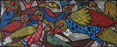 tableaux-de-faune - Tableau -Bird conference- - Oladoja, Muktair