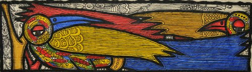 tableaux-de-faune - Tableau -Courting Birds- - Oladoja, Muktair
