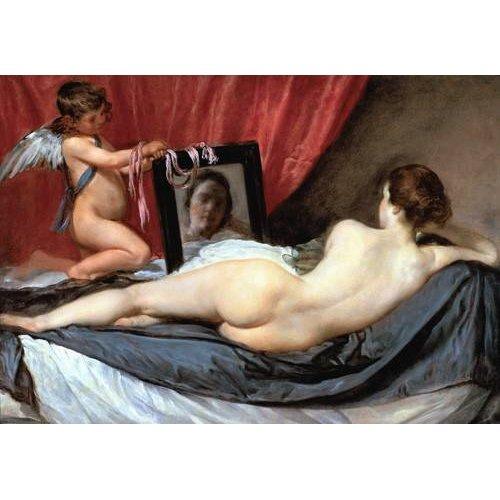 pinturas do retrato - Quadro -Venus delante del espejo-
