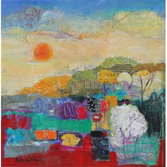Tableau - Colours of Summer 2014 acrylic.paper collage-