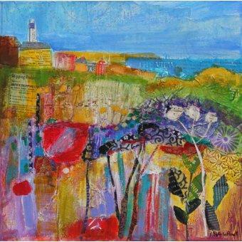 Tableau - Coastal Meadow 2013, acrylic.paper collage-